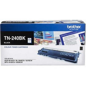 Brother TN 240BK Black Genuine Toner Cartridge