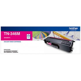 Brother TN 346M Magenta Genuine Toner Cartridge