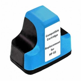 HP 02 Cyan Compatible Ink Cartridge
