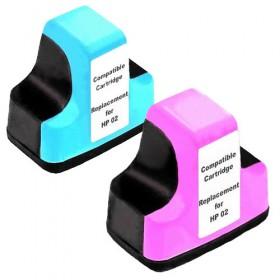 HP 02 LCLM Compatible Colour Pack