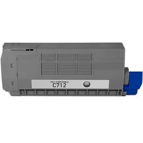 Oki C712 Black Compatible Toner Cartridge ( Oki 46507612 )