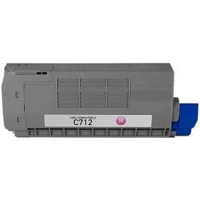 Oki C712 Magenta Compatible Toner Cartridge ( Oki 46507610 )