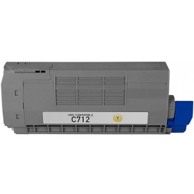Oki C712 Yellow Compatible Toner Cartridge ( Oki 46507609 )