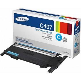 Samsung CLT C407S Cyan Genuine Toner Cartridge