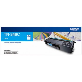 Brother TN 346C Cyan Genuine Toner Cartridge