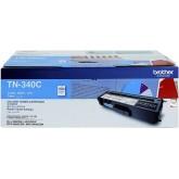 Brother TN 340C Cyan Genuine Toner Cartridge