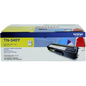 Brother TN 340Y Yellow Genuine Toner Cartridge