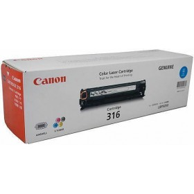 Canon Cart 316 Cyan Genuine Toner Cartridge