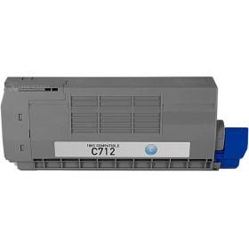 Oki C712 Cyan Compatible Toner Cartridge ( Oki 46507611 )