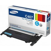 Samsung CLT C407S Cyan Genuine Toner Cartridge