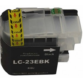 Brother LC 23E Black Compatible Ink Cartridge