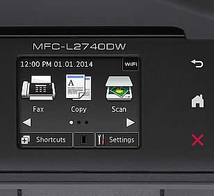 brother mfc l2740dw control panel Brother printer won't print black