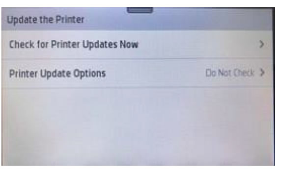 Turn off HP Printer Firmware Updates